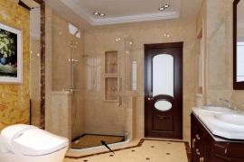 淋浴房地面铺瓷砖又冰又滑 防腐木条才是最佳选择