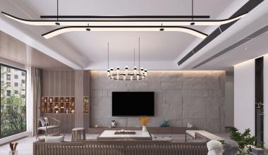 郑州美好家园230平现代中式风格