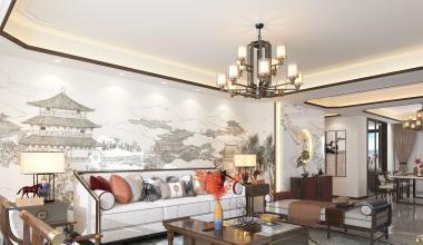 郑州蓝城诚园200平新中式风格