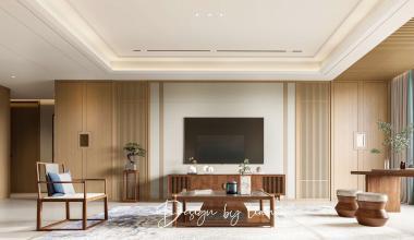 郑州蓝城兰园230平美式风格