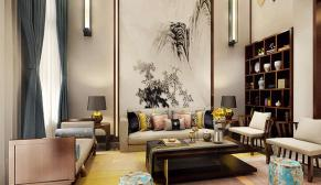 郑州濮阳紫檀东花园300平新中式装修效果图