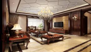 郑州永威五月花城200平欧式古典装修效果图