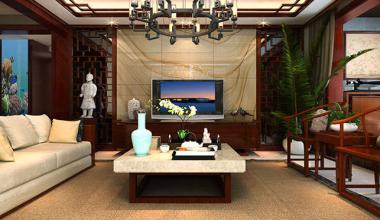 郑州卢浮宫馆140平中式风格装修效果图